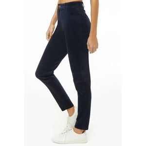 Navy Blue high Rise Corduroy Skinny Ribbed Jeans